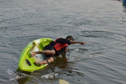 Azhar takes a Short-cut (Nilshi-Kayaking activity)