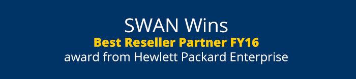 SWAN Wins Best Reseller Partner FY16 award from Hewlett Packard Enterprise