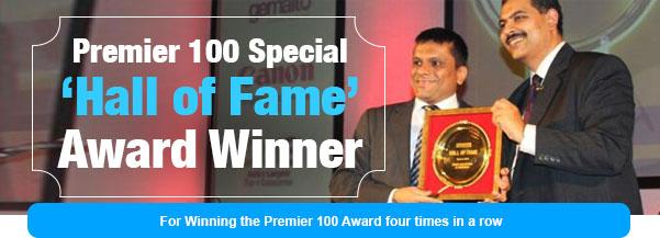Premier 100 Special 'Hall of Fame' Award Winner
